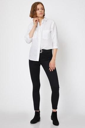 Koton Kadın Siyah Pantolon 0KAK47337DD 1