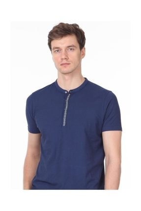 Ramsey İndigo Düz Örme T - Shirt RP10113919 2