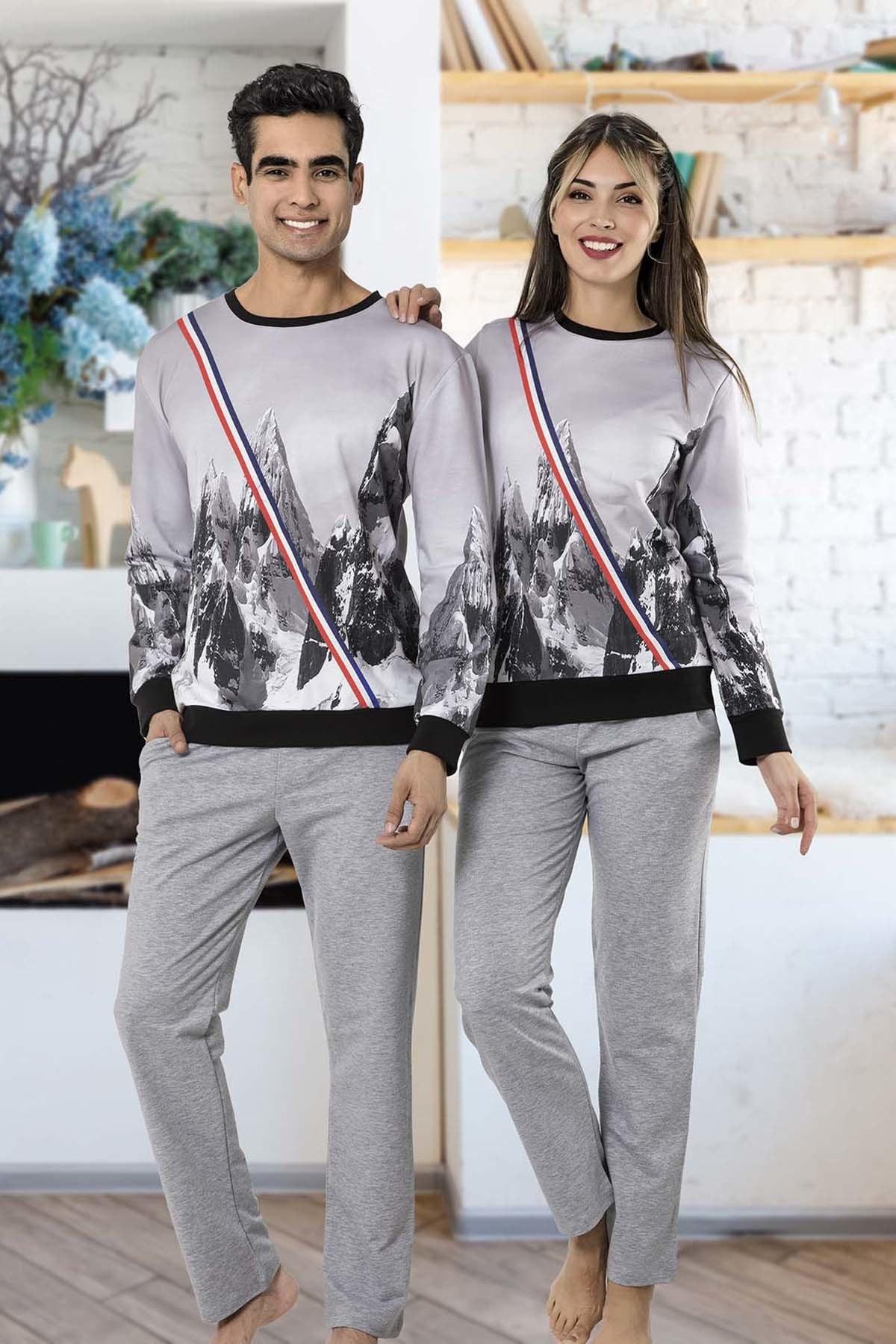 İPEKTENİM Kadın Gri Pijama Takım 1