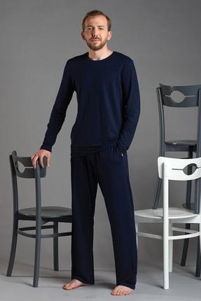 Svm Erkek Lacivert Bisiklet Yaka Pijama Takım 0