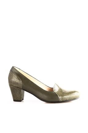 Dgn Yeşil Petek Yeşil Kadın Klasik Topuklu Ayakkabı 258-148 0