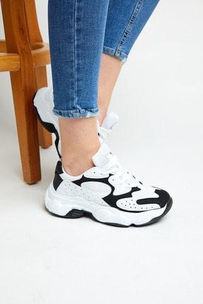 Tonny Black Kadın Beyaz Siyah  Spor Ayakkabı Tb284 0