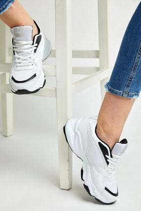 Tonny Black Unısex Spor Ayakkabı Beyaz Siyah Zyp 1