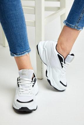 Tonny Black Unısex Spor Ayakkabı Beyaz Siyah Zyp 2