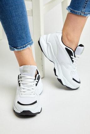 Tonny Black Unısex Spor Ayakkabı Beyaz Siyah Zyp 3