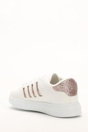 Ayakkabı Modası Beyaz-Bakır Kadın Sneaker M4000-19-101001R 2