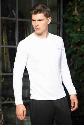 Mondo Beyaz Bisiklet Yaka Sweatshirt 0