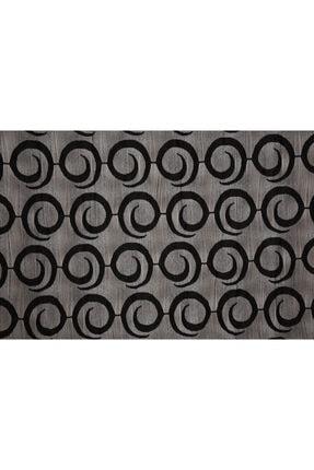 AKÇA TEKSTİL Vakko Siyah Renk Ip Perde Hazır Düğmeleri Dikilmiş 3 Mt. Kupon Perde 300*270 cm 4