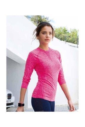 Yeni İnci Fosforlu Pembe Uzun Kol Sporcu T-shirt 1