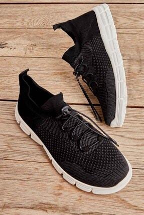 Bambi Siyah Gri Kadın Sneaker K01816027182 0