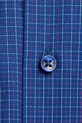 Kiğılı Uzun Kol Slim Fit Kareli Gömlek 3