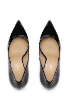 Kemal Tanca Siyah Kadın Vegan Stiletto Ayakkabı 22 6213 BN AYK Y19 4
