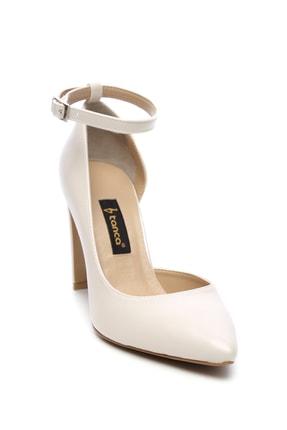 Kemal Tanca Beyaz Kadın Vegan Klasik Topuklu Ayakkabı 22 319 BN AYK 1