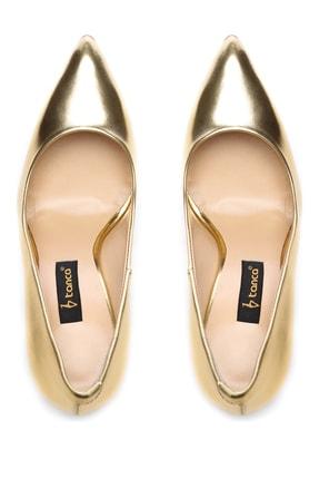 Kemal Tanca Sarı Kadın Vegan Klasik Topuklu Ayakkabı 22 51191 BN AYK Y19 3