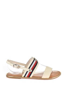 Tommy Hilfiger Kadın Corporate Ribbon Flat Sandalet FW0FW02811 2