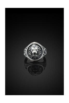 Bysilverstone Aslan Işlemeli Gümüş Erkek Yüzük 1
