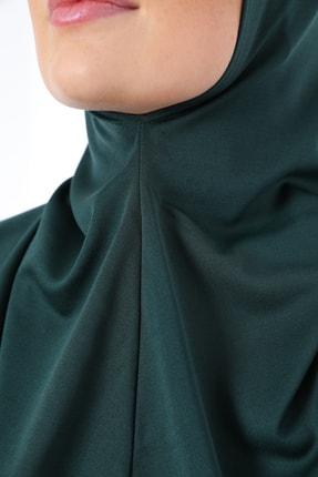 medipek Zümrüt Yeşili Fermuarlı Tek Parça Namaz Elbisesi 4