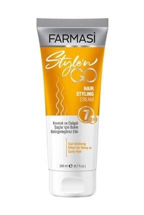 Farmasi Style'n Go Kıvırcık Saçlar İçin Saç Bakım Kremi 200 ml 0
