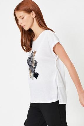 Koton Kadın Beyaz T-Shirt 0YAK13992EK 1