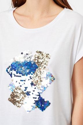Koton Kadın Beyaz T-Shirt 0YAK13992EK 4
