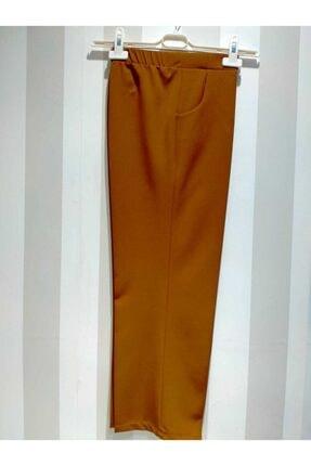 Kadın Taba Beli Lastikli Kumaş Pantolon KUMAŞPANTOLON12