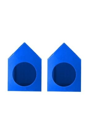 Mascot Su Geçirmez Mavi Renk  Demonte Plastik Kedi Evi - 2 Adet 0
