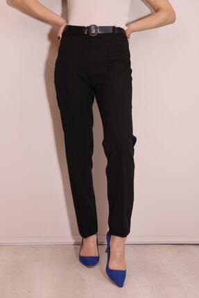 Kadın Siyah Ekol Kemerli Kalem Pantolon 2326