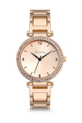 Forentina Kadın Gold Rose Taşlı Kol Saati Ps1092 0