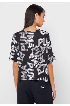 Puma Women`s T-shırt Modern Sports Aop Fashıon Tee Black 58123801 2