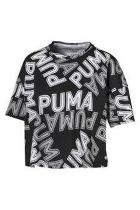 Puma Women`s T-shırt Modern Sports Aop Fashıon Tee Black 58123801 4