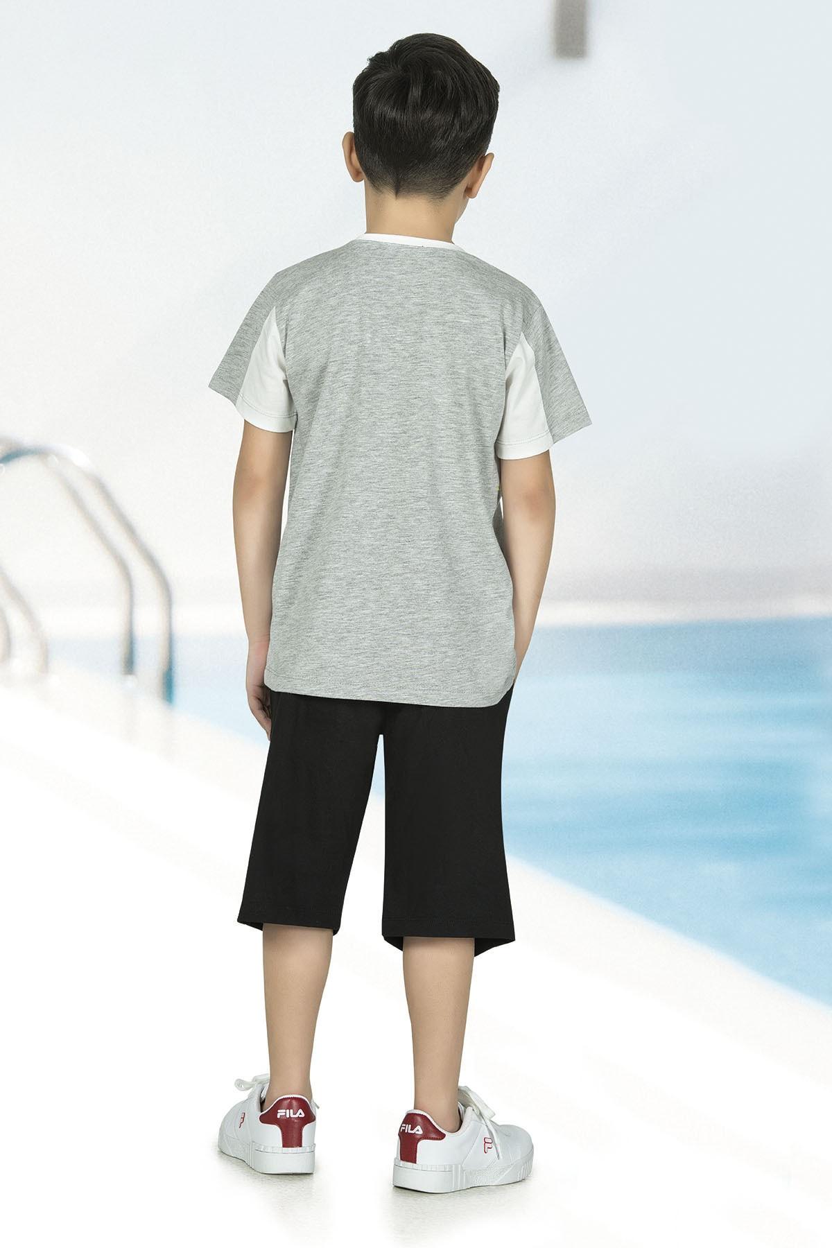 ÖZKAN underwear Erkek Çocuk Şortlu Pijama Takımı