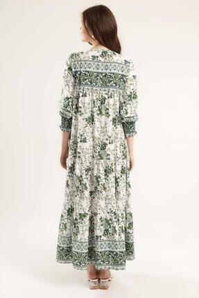 Pattaya Kadın Volanlı Çiçekli Uzun Elbise Y20s110-1947 3