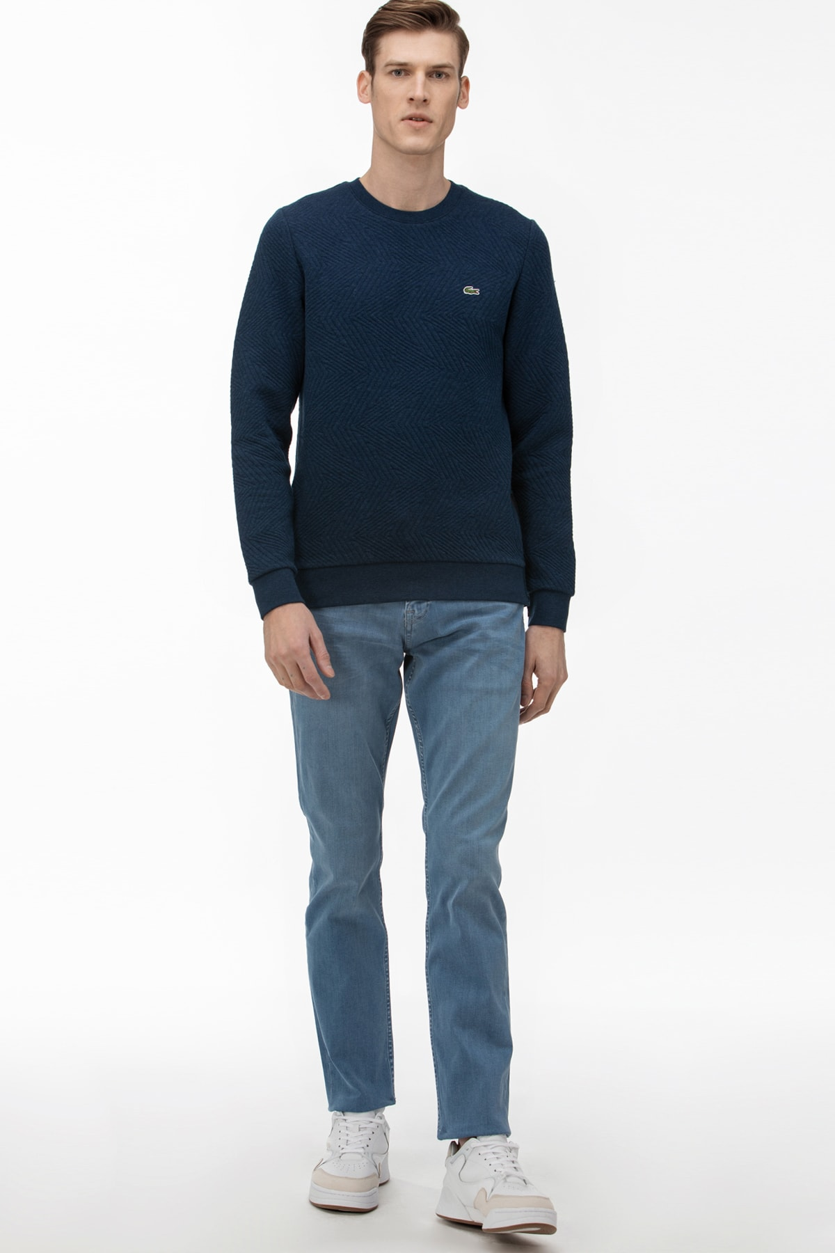 Erkek Slim Fit Slim Fit Denim Mavi Pantolon HH0010 HH0010