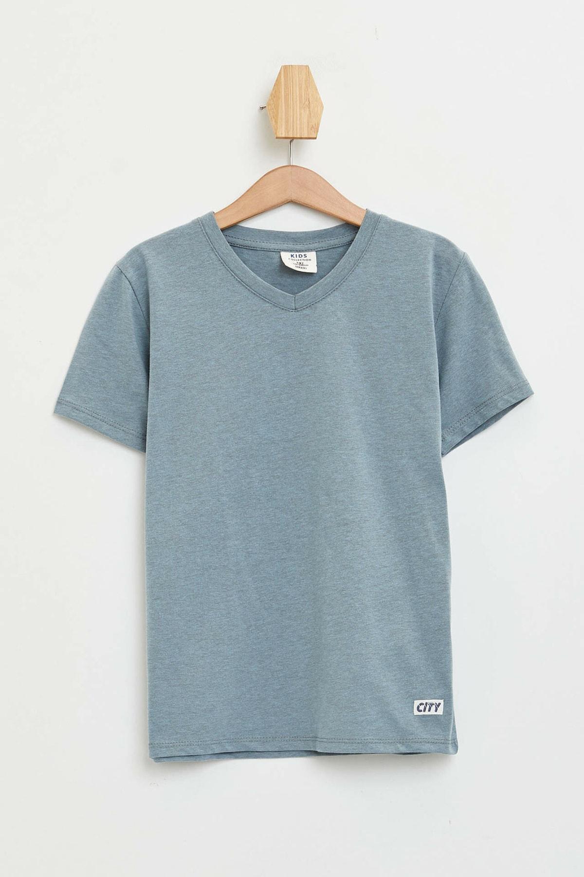 Erkek Çocuk Basic V Yaka Kısa Kollu Tişört