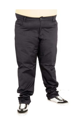 Picture of Büyük Beden Erkek Klasik Keten Pantolon Antrasit