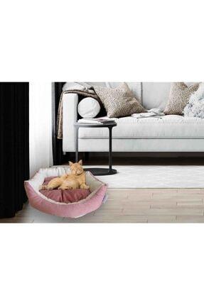 Kedi Yatağı Köpek Yatağı Yavru Kedi Yatağı Yavru Köpek Yatağı Kombin Pembe est01325