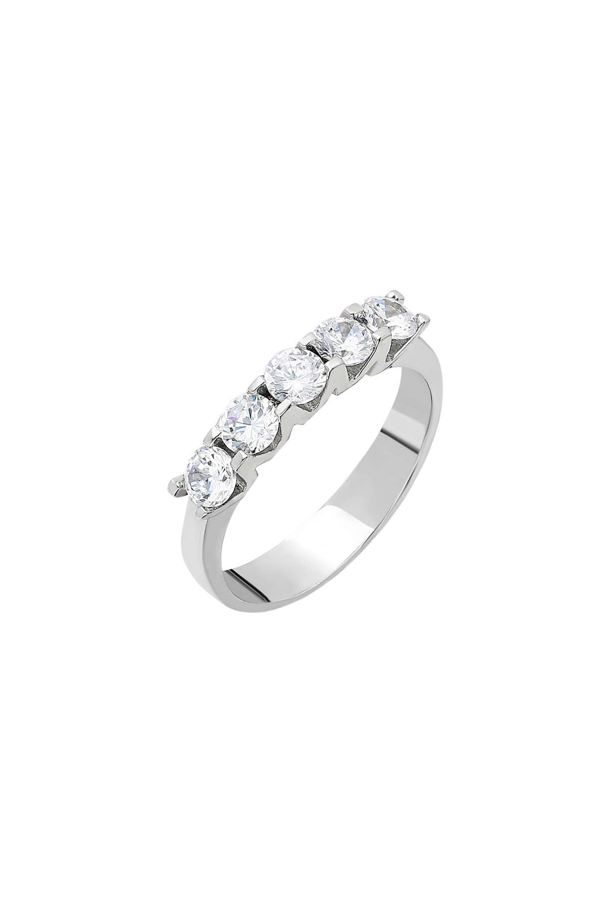 Tesbihane Starlight Diamond Pırlanta Montür Mini Tasarım 925 Ayar Gümüş Bayan Beştaş Yüzük 102001809 3