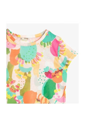 Koton Ekru Kız Çocuk T-Shirt 0YKG17006GK 2