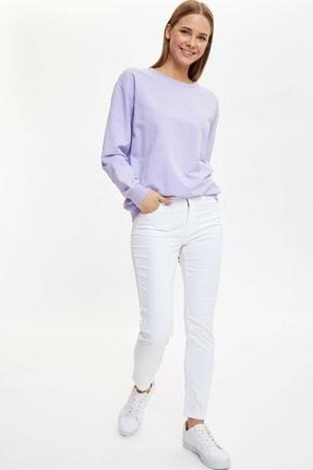 Defacto Basic Düşük Omuzlu Sweatshirt 1