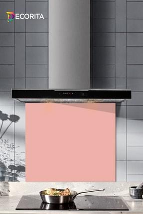 Decorita Düz Renk - Somon | Cam Ocak Arkası Koruyucu   |   52cm x 60cm 0