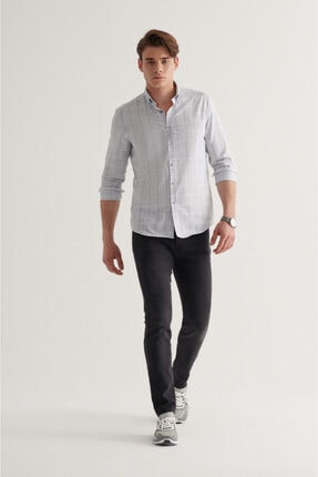 Avva Erkek Siyah Slim Fit Jean Pantolon A11y3554 3