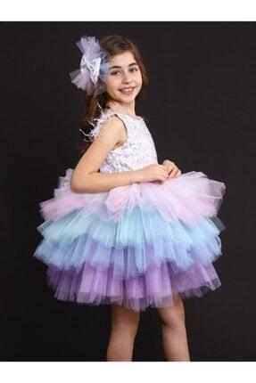 Riccotarz Kız Çocuk Rainbow Princess Elbise 1