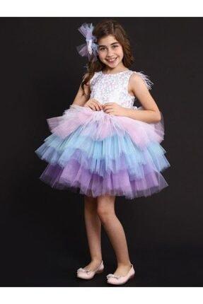 Riccotarz Kız Çocuk Rainbow Princess Elbise 3