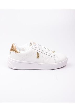 US Polo Assn U. S. Polo Exxy Beyaz Kadın Sneaker Beyaz-38 1