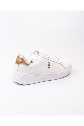 US Polo Assn U. S. Polo Exxy Beyaz Kadın Sneaker Beyaz-38 3