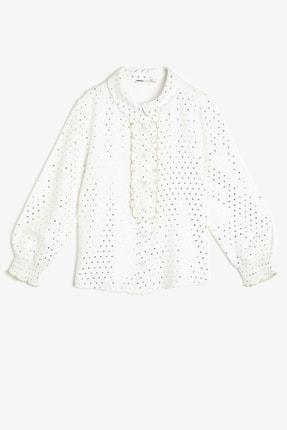 Koton Ekru Baskılı Çocuk Gömlek 0YKG67993AW 0