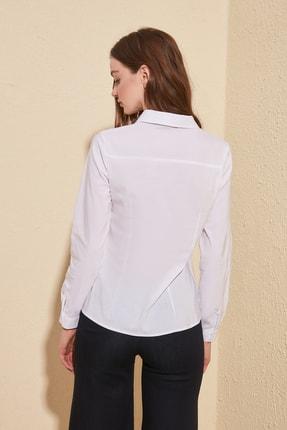 TRENDYOLMİLLA Beyaz Basic Gömlek TWOAW20GO0408 3