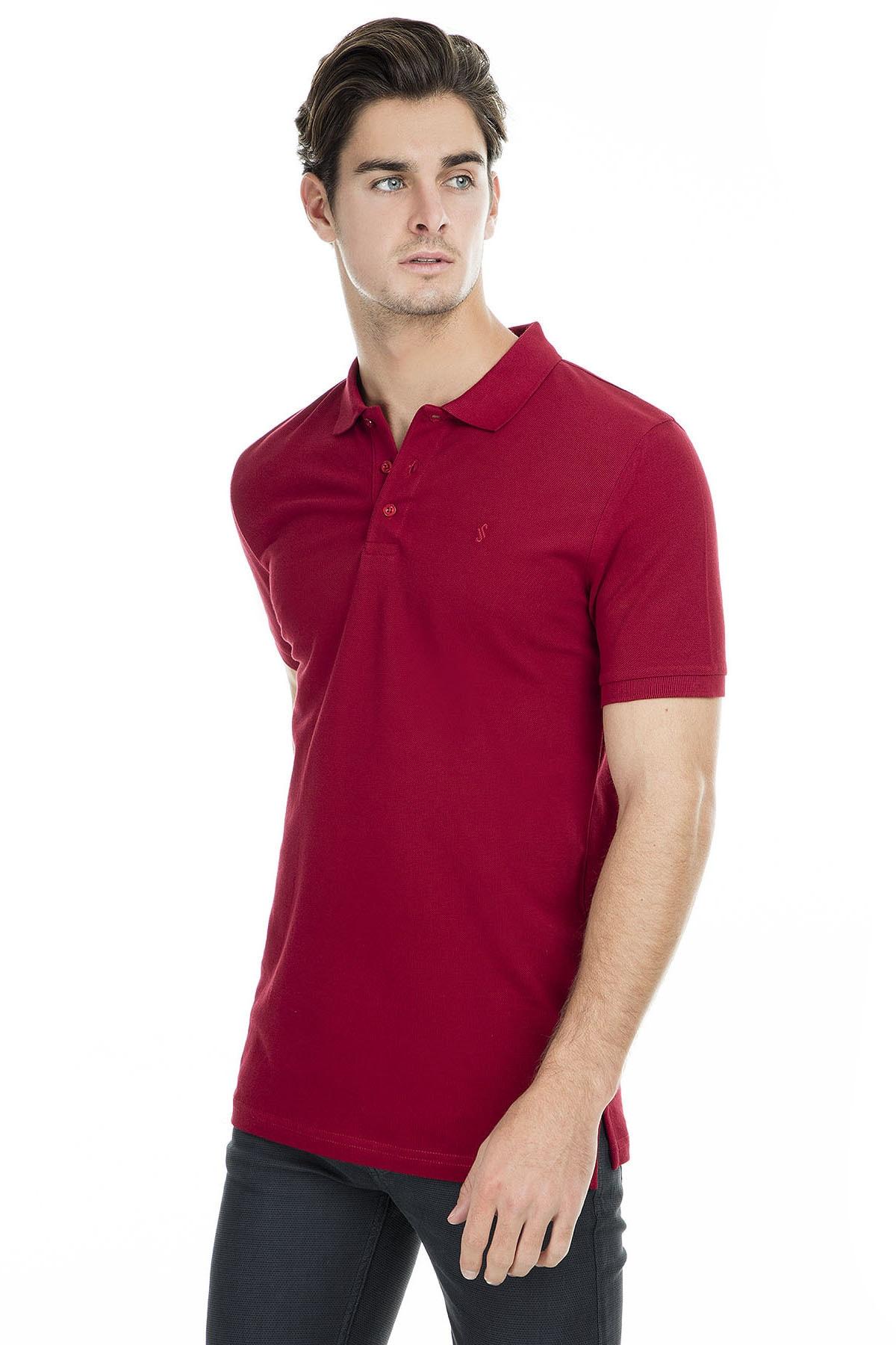 Sabri Özel Erkek Bordo Polo Yaka T-Shirt - T446688 2