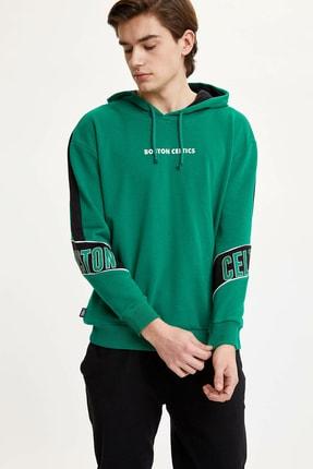 Defacto Erkek Yeşil Nba Lisanslı Sweatshirt N2605AZ.20SP.GN154 0