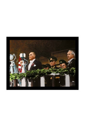 mağazacım Atatürk Tören Izlerken 50 Cm X 70 Cm Kanvas Tablo Tbl1202 2